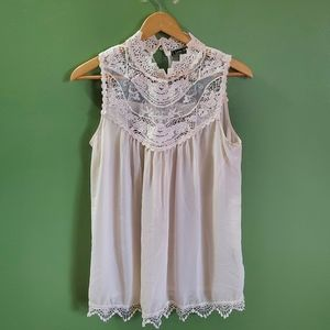 LoveStitch sheer laceTop